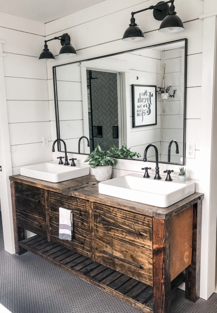 vanity, reclaimed wood, shiplap