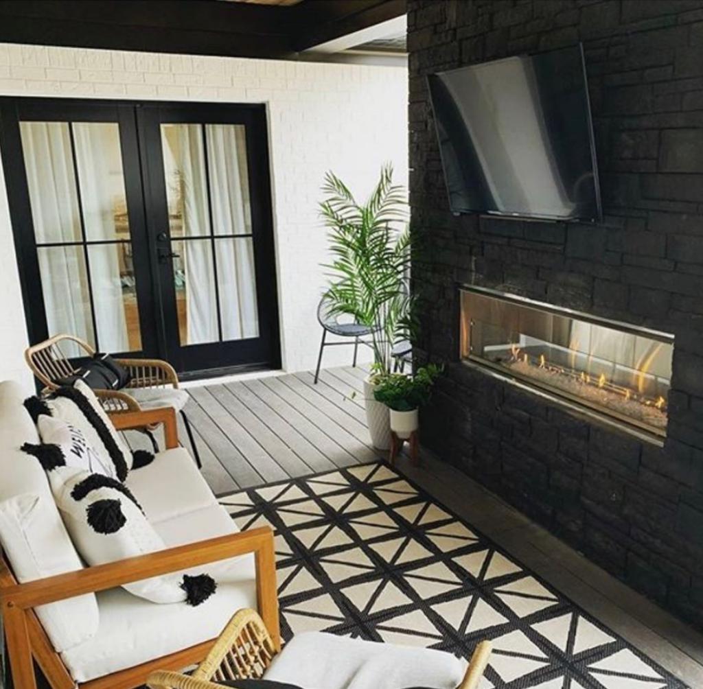 Versetta Stone, Northern Ash, fireplace, two-sided fireplace