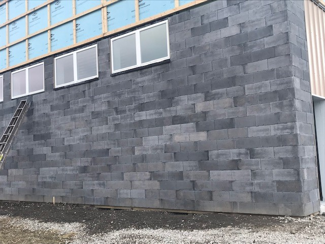 Versetta Stone Carved Block in Midnight on commercial project